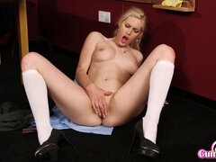Hot blonde model hard sex