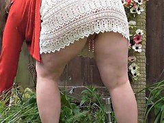 White Lace Skirt with Clit-clip