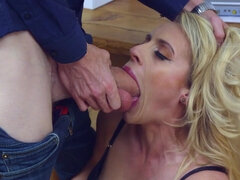 Blonde chick got spanked and punished properly