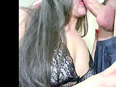 FUCK MY THROAT - non stop suck off until he comes in my jaws-KIMHOTCOUPLE