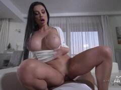 Aletta Ocean joins me for good cock ride - Hungarian pornstar with big fake tits