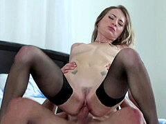 horny hook-up With towheaded Natasha Starr In Stockings