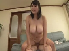 Teasing buxomy Japanese gal featuring beautiful fetish sex video