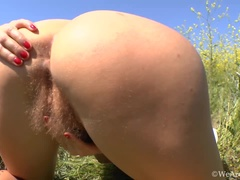Fun in the park for hairy Riana S