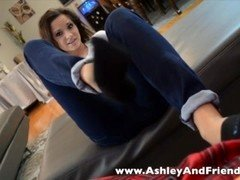 ashley sockjob in ped socks - footies