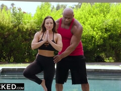 Horny MILF Abigail Mac Oiled and BBCd