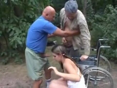 Dirty Old Men Fornicating A 18Yo Schoolgirl Bitch