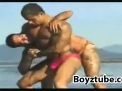 Beach Wrestling: Rocky James vs Rick Martin