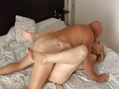 Mature lady knows how to have an intercourse her man.