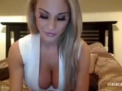 Ideal sexy breasty blonde babe cam show - Olalacam
