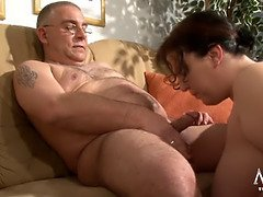 German huge blows a fat old man lustily - fat xxx