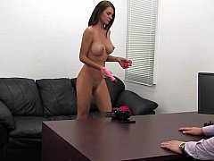 Appetizing mom enjoys the stripping naked interview