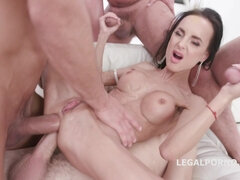 Welcome Back Aletta Black 4on1 GangBang with Double Anal