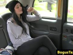 Ass licking kitten fucked in taxi