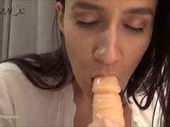 Hot brunette gived POV blowjob
