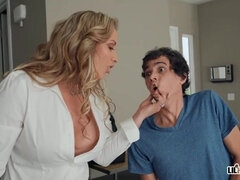 Horny Stepmom Eva Notty - Busty Study Buddy - hardcore with cumshot