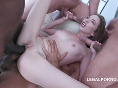 Petite Teen Rough Double Anal