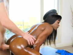 Ebony cop stripper has an intercourse wrong guy