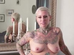 GERMAN SCOUT - Entice TATTOO MILF CAT COX TO ANAL AT CASTING