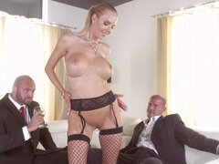 Florane Russell Gets Both Her Holes Used By Her Husband And His Friend