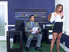 Layla London taking a hard office dicking from her boss