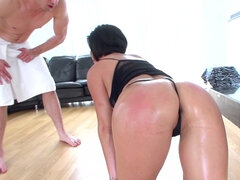 PAWG Shay Fox getting spanked and analy banged on the floor