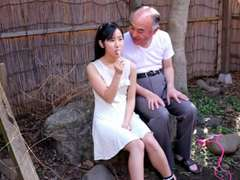 Japanese Teenage with Old Guy and Many Stud Bukkake