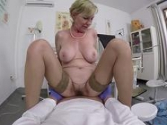 bigtitted granny gets point of view fucked by her doctor