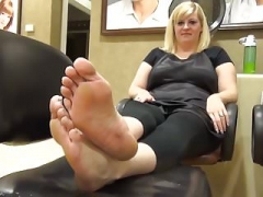 Rotund Blonde Feet and Soles