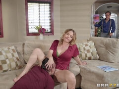 A middle aged sexy housewife Krissy hooks up with a younger guy