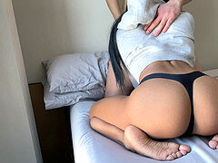 After Gym fuck Session finishes With jizz flow - Amateur Chi Girl