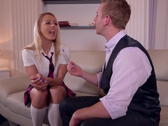 Naughty English Lesson - Teen Stuffed By Private Teacher