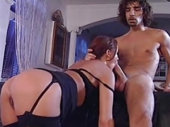 Madalina Ray Black Stockings Hard Having an intercourse On Sofa