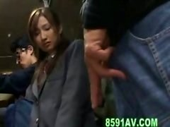 schoolgirl fucked with bus geek in the elevator