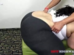Large bum Geisha Grimm gets a workout from Adonis
