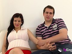 Spanish Pregnant Woman Gets Fucked By A Young Boy, Husband Joins Them