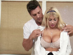 Lubed Kayla Kayden gets fucked & creampied by her big dicked masseur