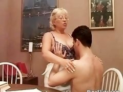 Grown-up bitch got doggy fucked by some aroused