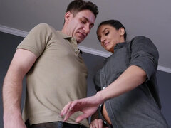 Buxom milf Sheena Ryder makes her stepson impregnate her on 40th birthday