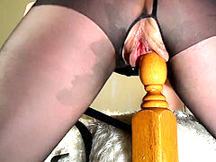 inexperienced mummy rides Her Bedpost Again! Multiple Squirting Orgasms