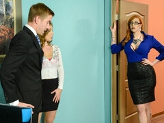 Awesome chicks Lauren Phillips and Lena Paul are getting dominated