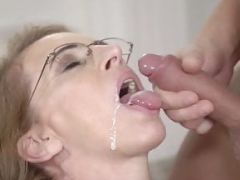 LustyGrandmas Aged Therapist Takes Patient's Cum in Mouth