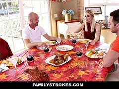 Having an intercourse my son's Female friend on Thanksgiving