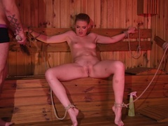 Bound & Spanked at the Sauna