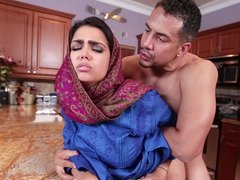 Beautiful Arab girl gives him a fellation and bends over for that cock