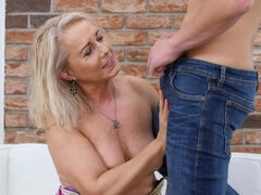Koko Mature fucked by younger guy