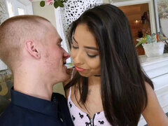 Petite Jasmine Summers use her cocksucking & dick riding skills for a role