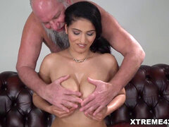 super-naughty Schoolgirl Ava Black Fucked by older guy