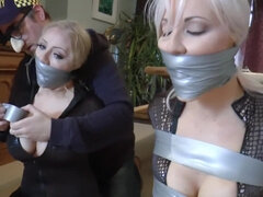 Naughty blonde babes bondage fetish video