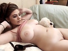 Thick natural tits chubby teen teasing shafts